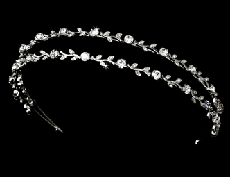 Beautiful double row vine rhinestone headband - SALE!!