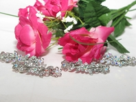 Beautiful Floral Crystal Hair Barrette<br><i>Set of 4</i>