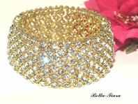 Beautiful gold rhinestone crystal bracelet - SPECIAL
