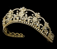 Beautiful Gold Swarovski crystal Quinceañera tiara - SALE
