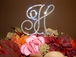 Beautiful, Large Full Crystal Rennaissance Monogram Cake Topper