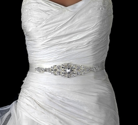 Beautiful Oval Shaped Pattern Wedding Belt Sash - SPECIAL