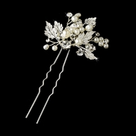 Beautiful pearl and vine wedding hair pin - SALE