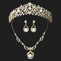 Beautiful Princess Gold tiara and necklace set -SPECIAL