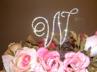 Beautiful Rennaissance Crystal Monogram Cake Topper