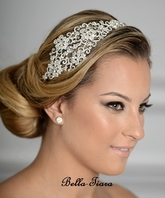 BEAUTIFUL Royal collection - vintage swarovski crystal side headband - SALE