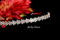 Selia - Pretty floral rhinestone communion headband - SALE