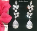 Beautiful Swarovski crystal drop bridal earrings - SALE