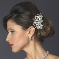 Beautiful swirling ribbon wedding hair comb - SALE!!