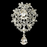 Beautiful Vintage Swarovski Crystal Hair Comb or Brooch
