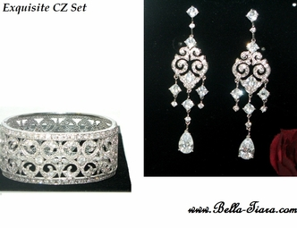 BELLA- Vintage Cubic Zirconia Bridal Jewelry set - AMAZING PRICE!!