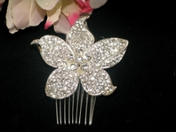 BELLINA- STUNNING!!! Romantic crystal flower hair comb -  SALE!! BACK  IN STOCK
