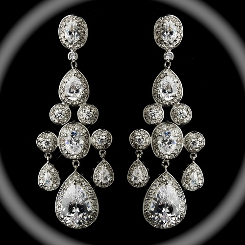 Bellissima Royal Collection Couture Statement Chandelier Wedding Earrings Great Price