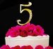 Birthday or Anniversary Crystal Number cake topper