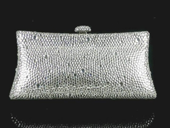 Breathless -Swarovski crystal evening clutch purse -