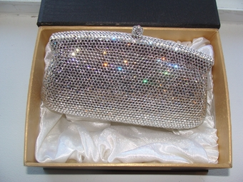 Breathtaking Royal Swarovski Crystal Clutch Purse