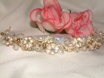 Bronze Beauty Gold Band Tiara