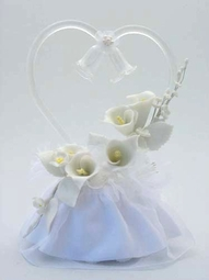 Calla Lily Spray Heart Cake Topper