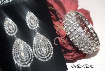 Camberly - Dazzling rhinestone drop wedding jewelry set -  SALE