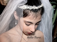 Camilla - ITALIAN COLLECTION - Stunning Pearl crystal communion headband