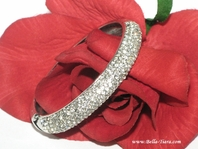 Carly - Elegant rhinestone prom wedding bangle cuff bracelet - SPECIAL
