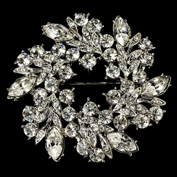 Carly - Elegant Vintage Crystal Bridal Brooch - SALE