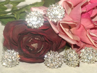 Carmen - Gorgeous vintage set of 6 rhinestone bridal hair pins - SPECIAL