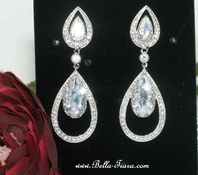 Casilda - Royal Collection CZ bridal earrings - SALE - Amazing Price