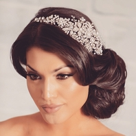 Christie - Gorgeous swarovski crystal side headband
