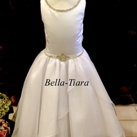 Christie Helene beautiful rhinestone communion dress BL5 - FREE VEIL AND SHIPPING