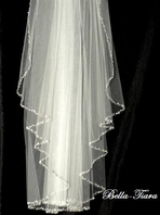 Cinderella - Royal collection - Crystal cathedral edge wedding veil -20% off use code (20veil)