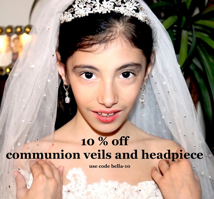 Communion Headpieces, first communion veils, communion tiara