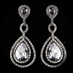 Contessa - Royal collection -  COUTURE Cubic Zirconia Bridal drop earring - SALE!!