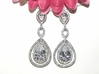 Contessa - Royal Collection - STUNNING Couture CZ earrings - SALE