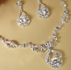 Couture Rhinestone Marquise Necklace Earring Set - SPECIAL!!