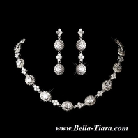 Couture vintage CZ collar bridal necklace set - AMAZINGLY PRICED!!!