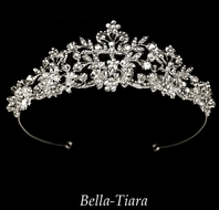 Cristina - Couture Crystal Filigree Bridal CrownTiara - SPECIAL