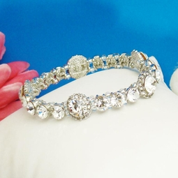 Crystal Encircled Bangle CZ Bracelet -- SALE!!