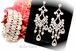 Dana - Vintage swirl rhinestone chandelier earrings and bracelet - SALE
