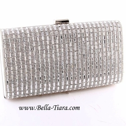 Dazzling prom bridal party evening rhinestone clutch