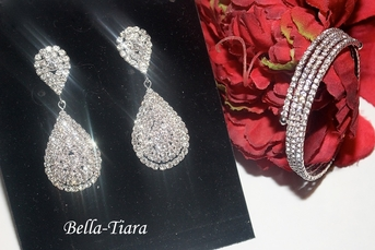 Dazzling rhinestone bridesmaids jewelry set - SALE