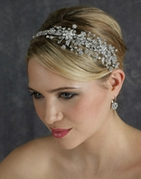 Dazzling Swarovski crystal side headband - Edward Berger 2365 - SALE