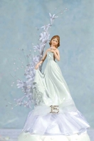 Delicate fine porcelain Quinceanera - Sweet Sixteen cake topper - SALE