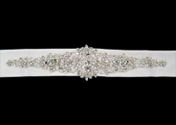 Designer Crystal Wedding Sash - SALE