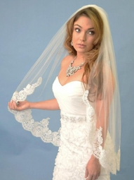 Designer vintage lace wedding veil - SALE