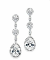 Desiree - Gorgeous CZ drop Bridal Earrings - SPECIAL!!