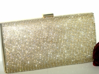 Diamond - Sophisticated Gold Swarovski crystal evening bag - SALE