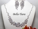 Diana - Precious and Beautiful elegant cz bridal necklace set