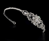 Domenica - Beautiful vintage crystal side accent wedding headband - SALE