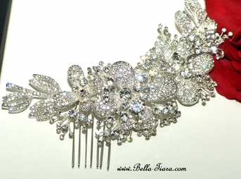 Donella - Royal Collection dazzling Swarovski crystal comb SPECIAL